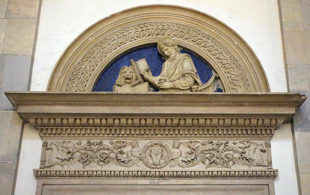 Benedetto da maiano, san marco, copia in stucco di un originale del 1481.jpg