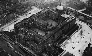 Berlin Palace - Aerial view of the Stadtschloss, circa 1905-1925