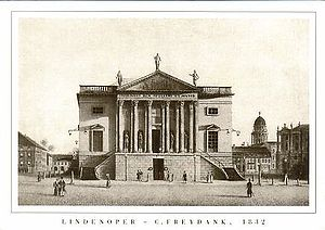 Cesare e Cleopatra - Royal Opera House in Berlin, where the work was performed (in German) for the opening