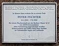 Berliner Gedenktafel Behaimstr 11 (Weißs) Peter Fechter.jpg