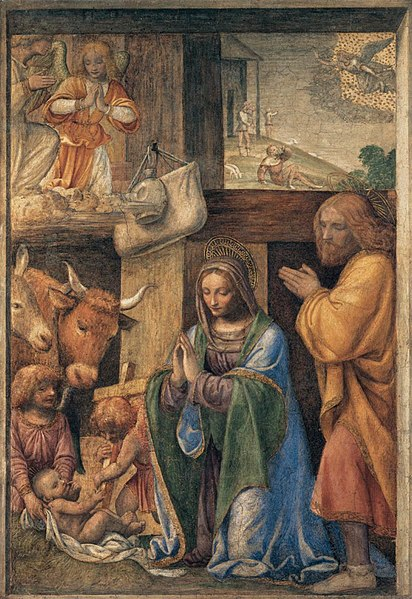 File:Bernardino Luini - Nativity and Annunciation to the Shepherds - WGA13754.jpg