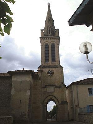 Bernos-Beaulac - Image: Bernos Beaulac (Gironde Fr) église de Bernos