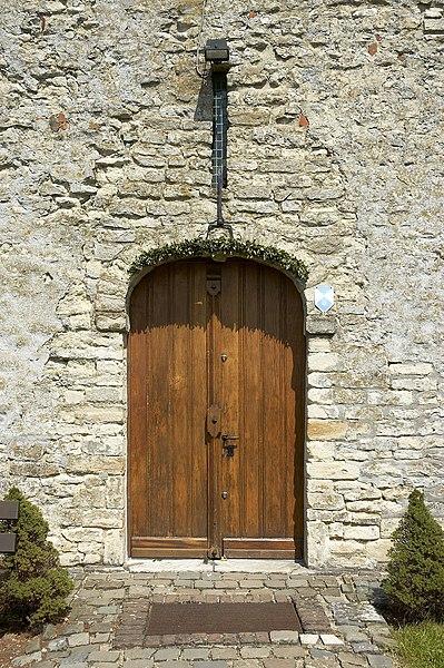 Door of Sint-Veronakapel, Bertem, Belgium