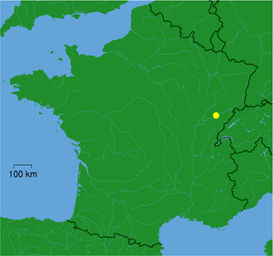 Localization of Besançon in France
