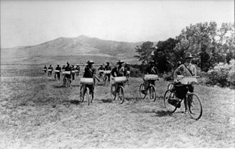 Bicycle infantry - American Bicycle Corps at Fort Missoula in 1897