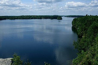 Frontenac Provincial Park - View of Big Salmon Lake