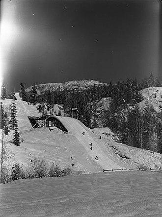 Canadian Ski Museum - Image: Big Bend Ski Jump, 1940s