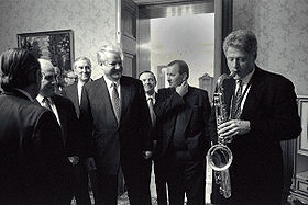 280px Bill Clinton and Boris Yeltsin 1994 - Saxofón