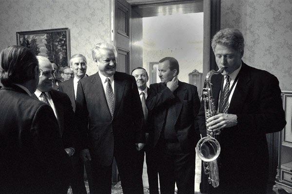 Bill Clinton and Boris Yeltsin 1994