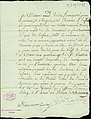 Bill of sale of infant Marie, belonging to Charleville, to August Chouteau, signed Francisco Cruzat, August 24, 1783.jpg