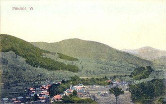 Pittsfield, Vermont - Bird's-eye view of Pittsfield c. 1910