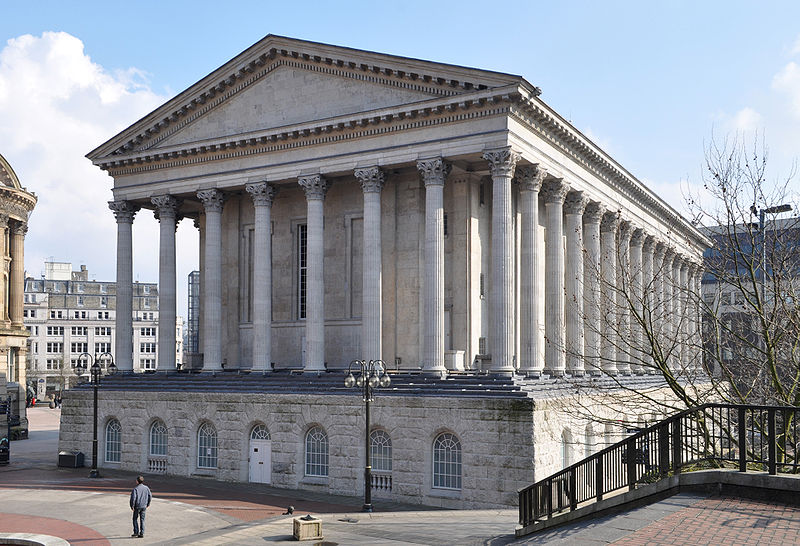 Birmingham Town Hall from Chamberlain Square