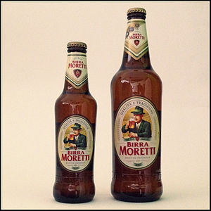 Birra Moretti - Birra Moretti bottled at 33cl and 66cl