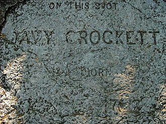 Davy Crockett - Commemorative stone.