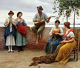 Blaas Eugene de The Serenade 1910 Oil On Canvas.jpg