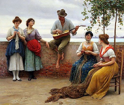 Blaas Eugene de The Serenade 1910 Oil On Canvas