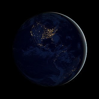 The Blue Marble - Image: Black Marble Americas