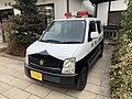 Black and white police automobile in Matsumoto.jpg