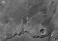 Black and white view of Huygens crater rim ESA234990.tiff
