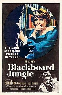<i>Blackboard Jungle</i> 1955 social commentary film directed by Richard Brooks