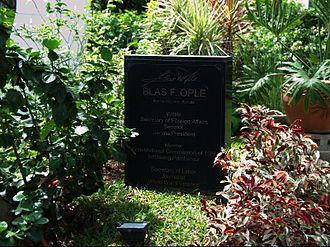 Blas Ople - Gravesite of Blas Ople at the Libingan ng mga Bayani