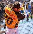 Blue Jays third baseman Josh Donaldson takes batting practice on Gatorade All-Star Workout Day. (28060274473).jpg