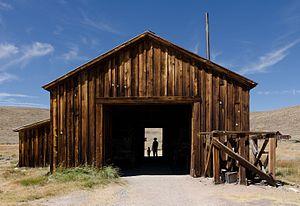 Bodie, California - County Barn, Bodie, California.