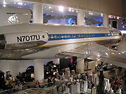 An early United 727, on display at the Museum of Science and Industry in Chicago.