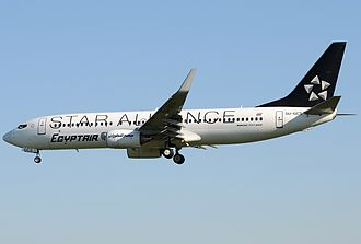EgyptAir - An EgyptAir Boeing 737-800 in Star Alliance special livery