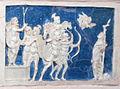Bolsena, s. cristina, chiesa maggiore, int., ciborio di benedetto buglioni, predella 03.jpg