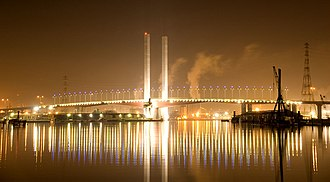 Bolte Bridge - Image: Bolte Bridge at Night