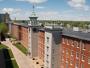 Lowell National Historical Park - Image: Boott mill rooftop view