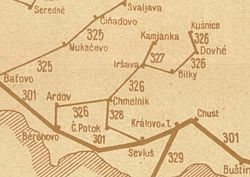 Borzhava Railway map 1938.jpg