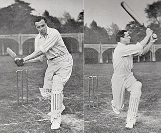 Bernard Bosanquet (cricketer) - Before and after pictures of Bosanquet playing a pull-drive, photographed by George Beldam in 1905