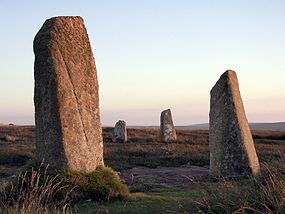 Boskednan stones at sunset penwith.jpg