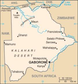 kalahariørkenen kart Botswana – Wikipedia kalahariørkenen kart