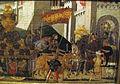 Bottega di paolo uccello, pannelli di cassone con armi medici e rucellai, firenze, 1466 ca. 08.JPG