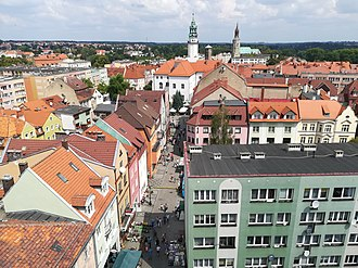 Lubań - Old town seen from above
