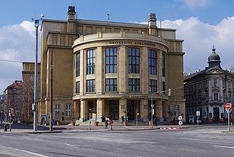 Education in Slovakia - Comenius University headquarters at Šafárikovo námestie in Bratislava