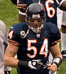 36c9dc1a6a2 Urlacher with the Chicago Bears during the 2008 season