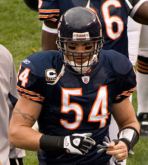 Associated Press NFL Defensive Player of the Year Award - Brian Urlacher won the award in 2005 with the Chicago Bears.