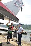 Brig. Gen. McGoff receives 360 degree tour of the U-6 Oh Boy! Oberto hydroplane 120708-Z-II695-051.jpg