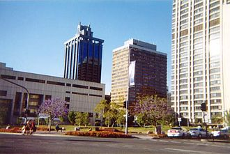 Brisbane Square - The garden park area, in front of the Law Courts Complex (and the State Law Building), is the block of land on which Brisbane Square now stands
