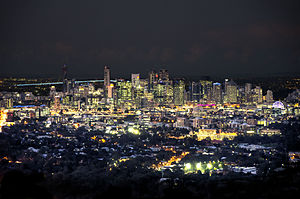 Mount Coot-tha, Queensland - Brisbane at night from the Lookout