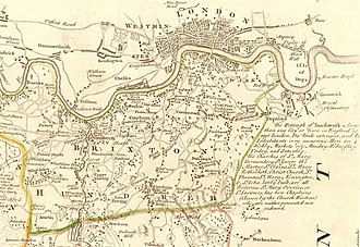 Hundred of Brixton - Brixton Hundred from an engraving by Eman Bowen, c.1760