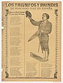 Broadsheet relating to the triumphs of the bullfighter Ponciano Diaz in Spain, a corrida (ballad) in the bottom section MET DP869189.jpg