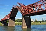 File:Broadway Bridge in Portland with bascule span open - viewed from west.jpg