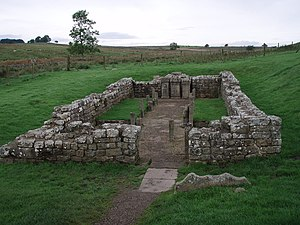 Carrawburgh - Remains of the Brocolitia mithraeum.