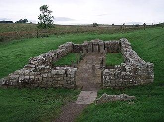 Carrawburgh - Remains of the Brocolitia mithraeum.
