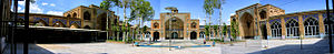 Soltani Mosque of Borujerd - Main courtyard of Sultani Mosque.